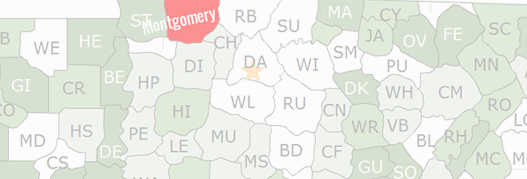 Montgomery County Map